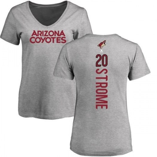 Dylan Strome Arizona Coyotes Women's Branded Backer T-Shirt - Ash